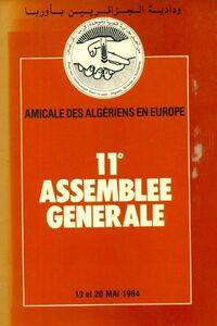 Amicale des Algériens en Europe 11e assemblée générale - Collectif - Livre