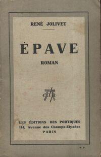 Épave - René Jolivet - Livre
