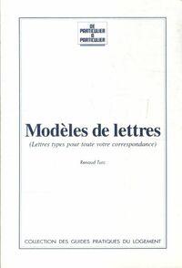 Modèles de lettres - Renaud Turc - Livre