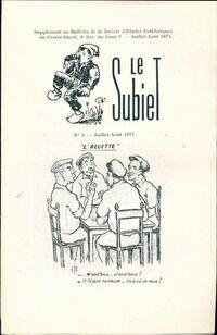 Le Subiet Tome V : 4e livraison - Collectif - Livre