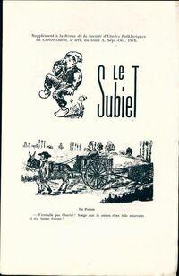Le Subiet Tome X : 5e livraison - Collectif - Livre