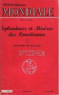 Splendeurs et misères des courtisanes Tome I - Honoré De Balzac - Livre