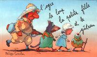 L'ogre, le loup, la petite fille et le gâteau - Philippe Corentin - Livre