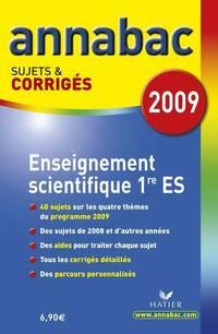 Enseignement scientifique 1e es : Sujets et corrigés - Sylvie Guérin-Bodeau - Livre