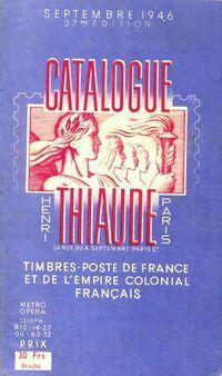 Catalogue Thiaude septembre timbres poste 1946 - Collectif - Livre