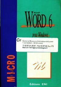Word 6 pour Windows - Collectif - Livre