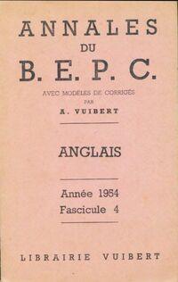 Annales du B. E. P.C. 1954 : Anglais - Collectif - Livre