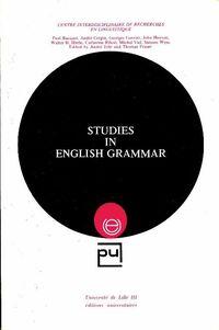 Studies in english grammar - Collectif - Livre