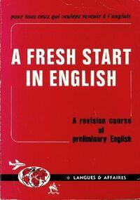 A fresh start in English - M.J Tournier - Livre