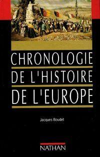 Chronologie de l'histoire de l'Europe - Jacques Boudet - Livre
