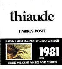 Catalogue Thiaude 1981 - Collectif - Livre