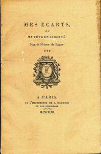 Mes écarts - Prince Charles-Joseph De Ligne - Livre