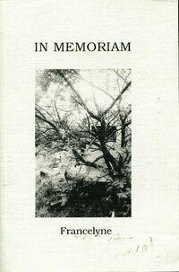 In memoriam - Francelyne Henner-Blanquière - Livre