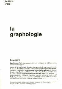 La graphologie n°278 - Collectif - Livre