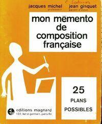 Mon mémento de composition française - Jacques Michel - Livre