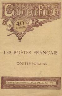 Les poètes français contemporains - Collectif - Livre