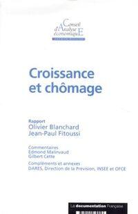 Croissance et chômage - Jean-Paul Fitoussi - Livre