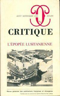 Critique n°495-496 : L'époque Lusitanienne - Collectif - Livre