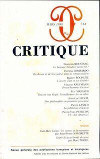 Critique n°514 - Collectif - Livre