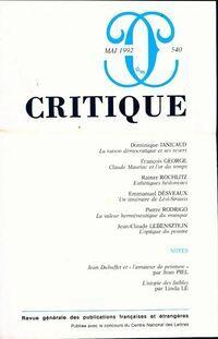 Critique n°540 - Collectif - Livre