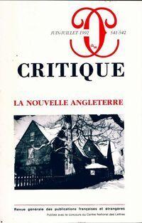 Critique n°541-542 : La nouvelle Angleterre - Collectif - Livre