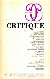 Critique n°480 - Collectif - Livre