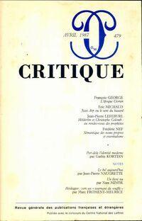 Critique n°479 - Collectif - Livre