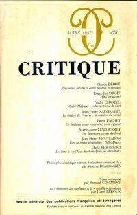 Critique n°478 - Collectif - Livre