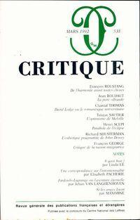 Critique n°538 - Collectif - Livre