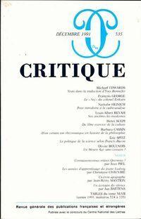 Critique n°535 - Collectif - Livre