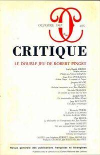 Critique n°485 : Le double jeu de robert pinget - Collectif - Livre