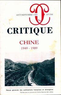 Critique n°507-508 : Chine (1949-1989) - Collectif - Livre
