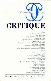 Critique n°523 - Collectif - Livre