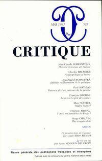 Critique n°528 - Collectif - Livre