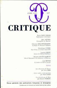 Critique n°527 - Collectif - Livre