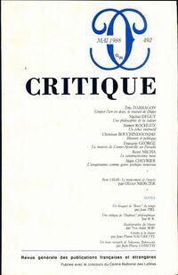 Critique n°492 - Collectif - Livre