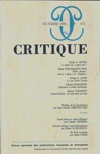 Critique n°473 - Collectif - Livre