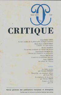 Critique n°504 - Collectif - Livre