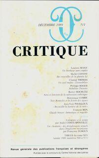 Critique n°511 - Collectif - Livre
