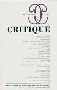 Critique n°509 - Collectif - Livre