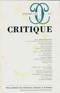 Critique n°510 - Collectif - Livre