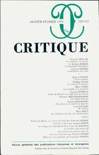 Critique n°524-525 - Collectif - Livre