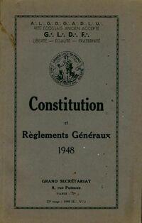 Constitution et règlements généraux 1948 - Collectif - Livre
