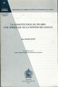 La constitution du picard - Jean-Michel Eloy - Livre