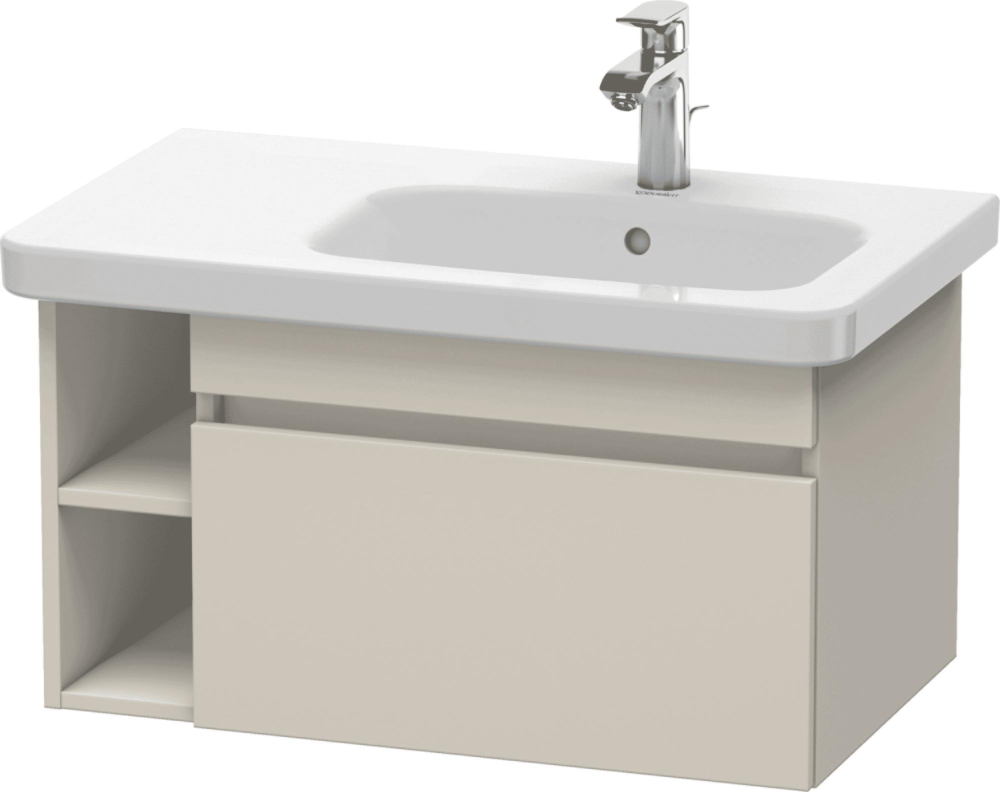 Duravit DuraStyle - Meuble sous lavabo avec 1 tiroir et étagère à gauche 730x398x448mm taupe/taupe