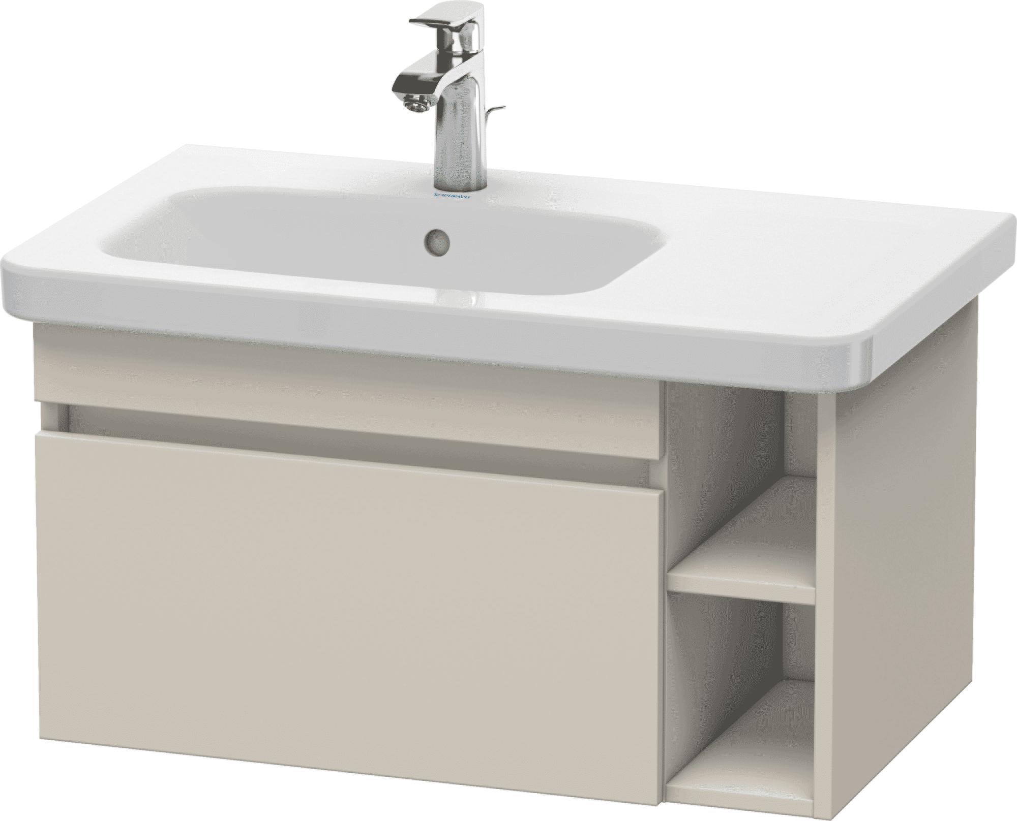 Duravit DuraStyle - Meuble sous lavabo avec 1 tiroir et étagère à droite 730x398x448mm taupe/taupe