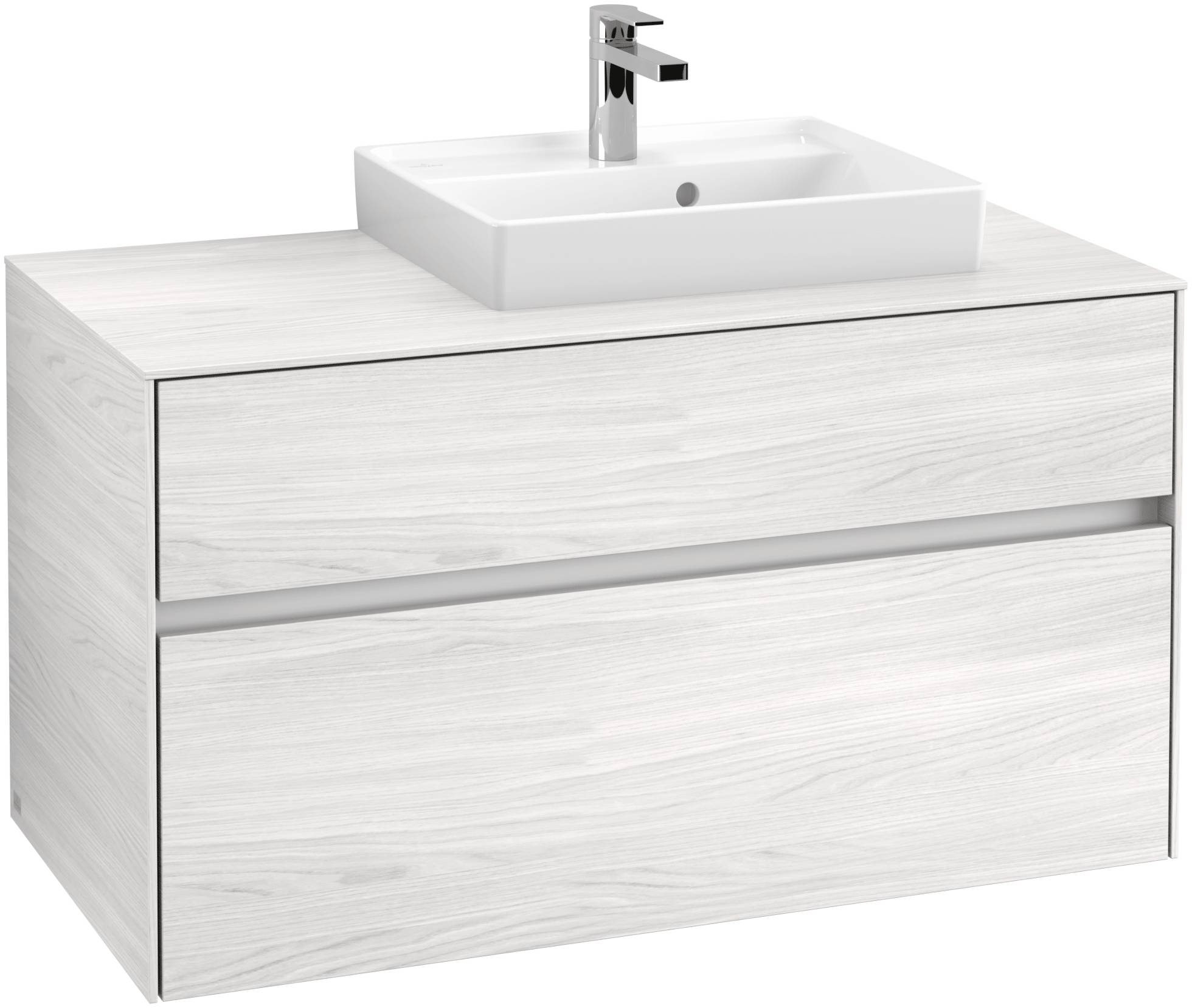Villeroy & Boch Villeroy & Boch Collaro - Meuble sous lavabo with 2 drawers & 1 cut-out right 1000 x 548 x 500mm bois blanc