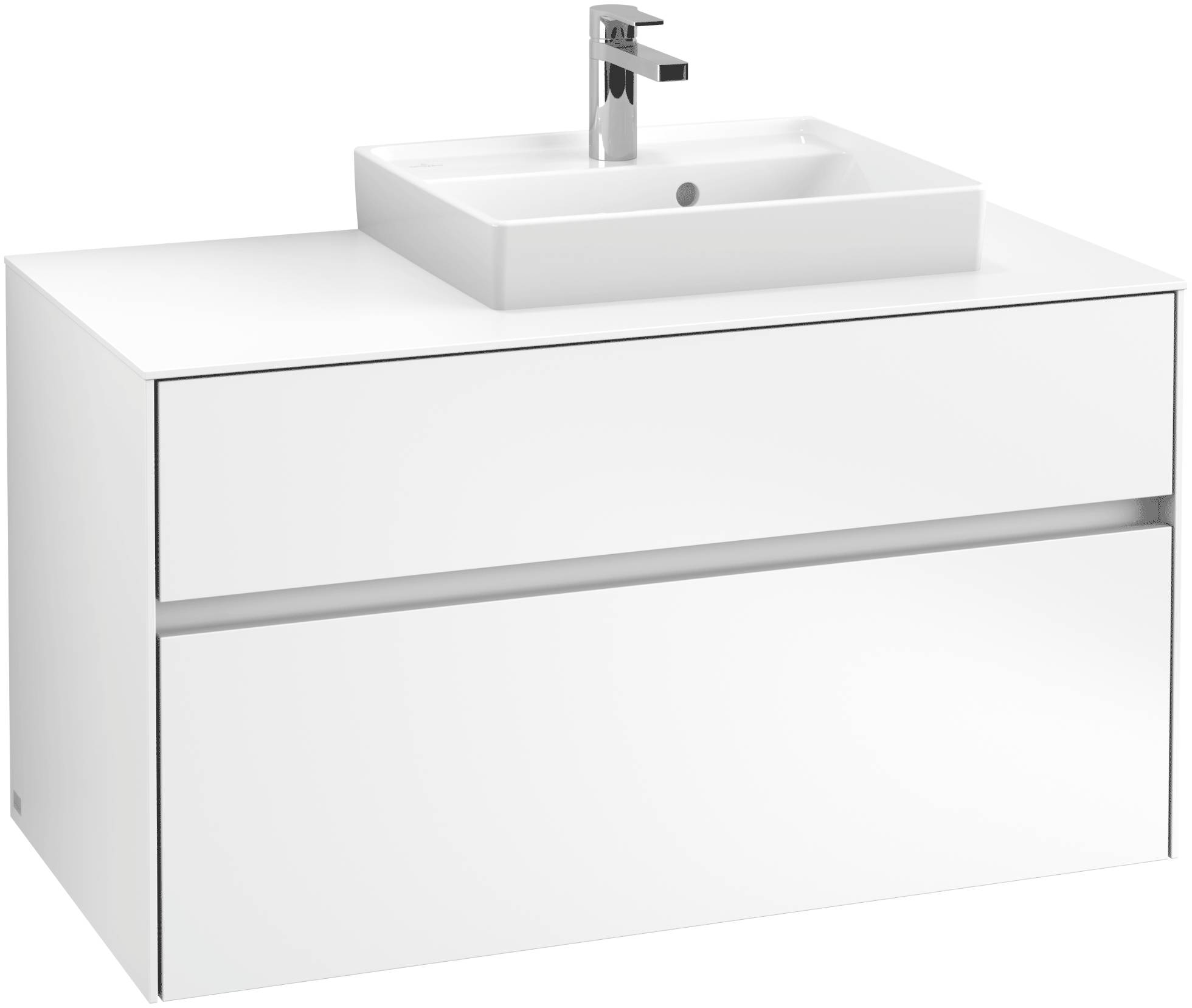 Villeroy & Boch Villeroy & Boch Collaro - Meuble sous lavabo with 2 drawers & 1 cut-out right 1000 x 548 x 500mm blanc mat