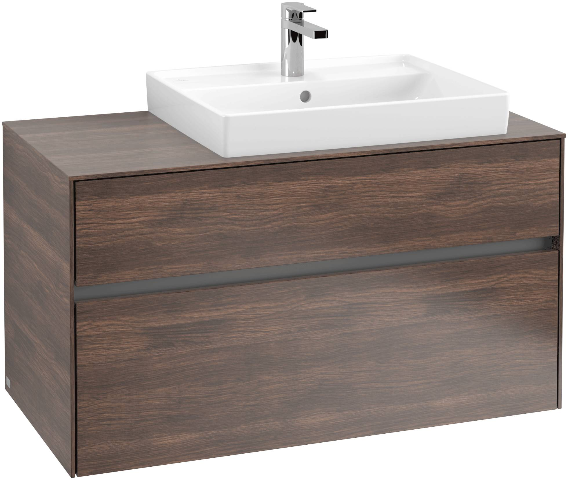 Villeroy & Boch Villeroy & Boch Collaro - Meuble sous lavabo with 2 drawers & 1 cut-out right 1000 x 548 x 500mm arizona oak