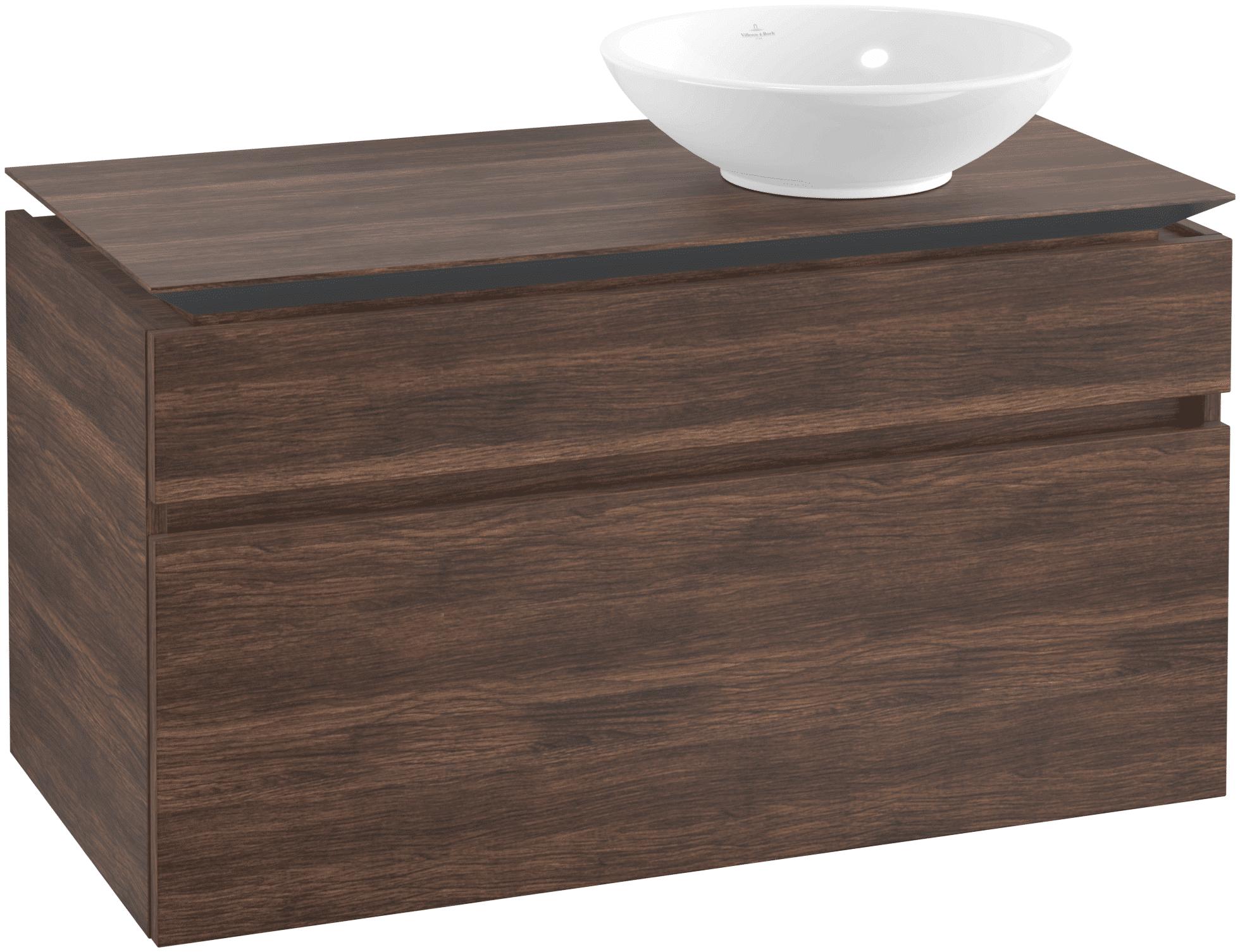 Villeroy & Boch Villeroy & Boch Legato - Meuble sous lavabo with 2 drawers & 1 cut-out right 1000 x 550 x 500mm arizona oak